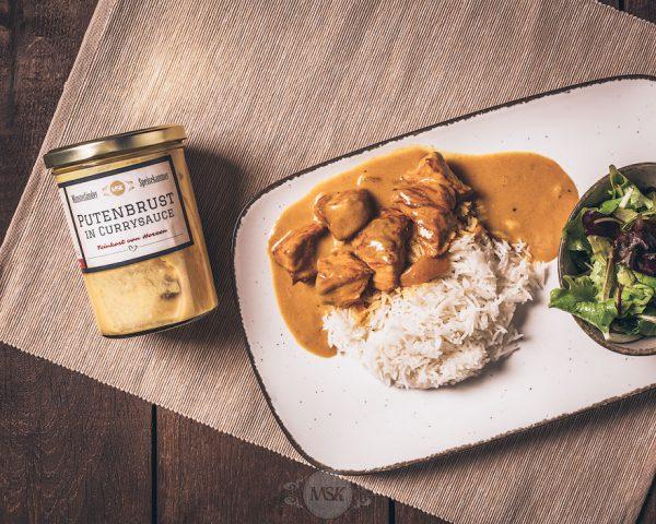 Glas Putenbrust in Currysauce aus der Münsterländer Speisekammer