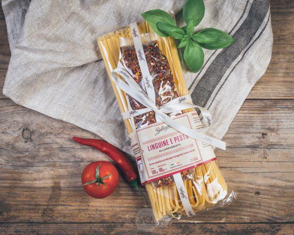 Packung Bellezini Linguine e Pesto all Arrabiata