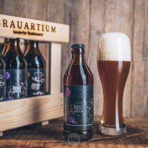 Flasche Brauartium Dunkler Weizenbock Bier