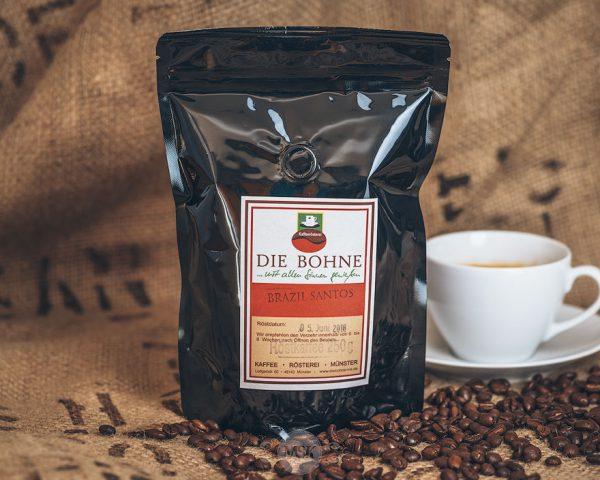 Packung Die Bohne Kaffee Brazil Santos
