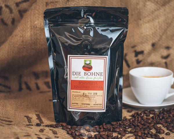 Packung Die Bohne Kaffee Schweizer Hausmischung