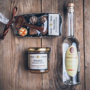 Präsent Geschenktüte kleine Birne von der Münsterländer Speisekammer