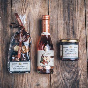 Geschenktüte kleine Himbeere alkoholfrei von der Münsterländer Speisekammer