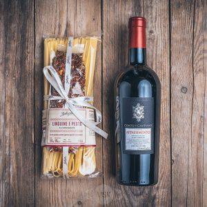 Präsent Geschenktüte Pasta e Vino von der Münsterländer Speisekammer