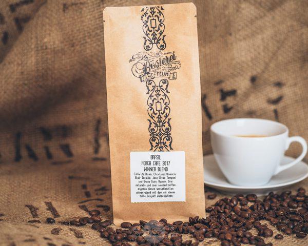 Packung Kaffee Brasil Forca Cafe 2017 aus dem Hamburger Cafehaus
