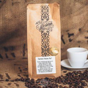 Packung Kaffee Espresso Italiano No. 1 aus dem Hamburger Cafehaus