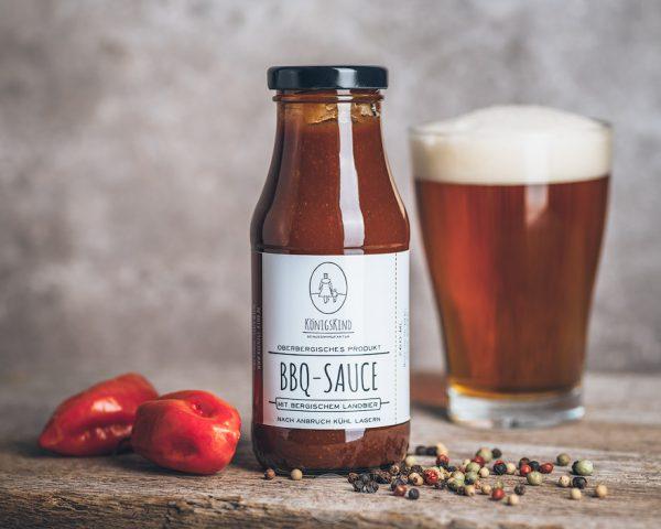 260 ml Flasche Königskind BBQ-Sauce mit bergischem Landbier