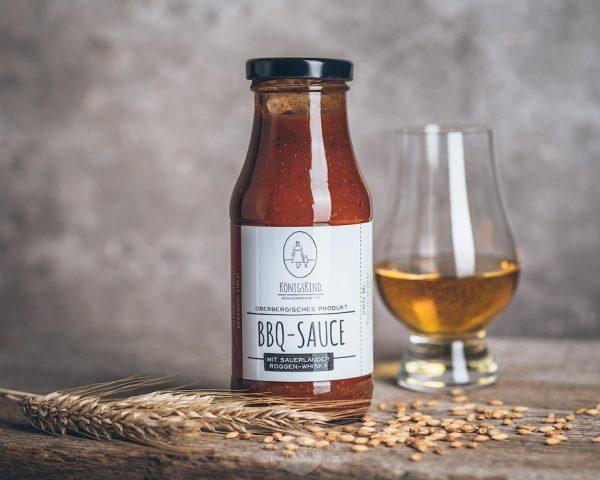 260 ml Flasche Königskind BBQ-Sauce mit Whisky