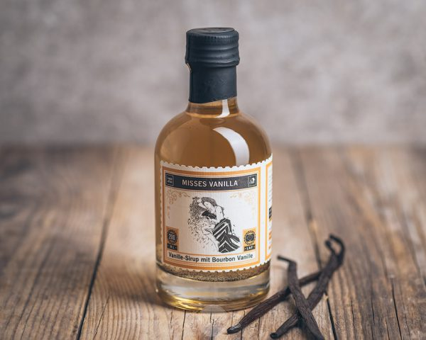 Flasche Lapp und Fao Misses Vanilla Vanille-Sirup mit Bourbon Vanille