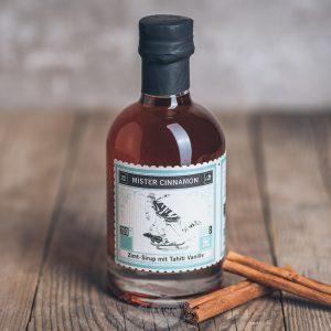 Flasche Lapp und Fao Mister Cinnamon Zimt Sirup mit Tahiti Vanille