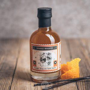 Flasche Lapp und Fao Orange Whisper Orangen Sirup mit Tahiti Vanille