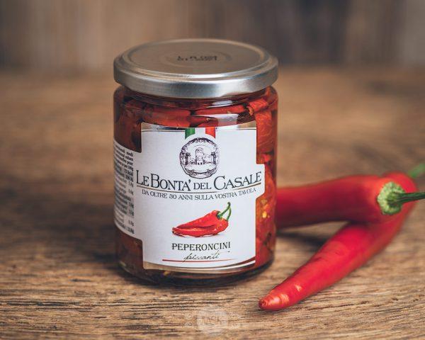 Glas scharfe Paprika von Le Bonta´del Casale - Peperoncini piccanti