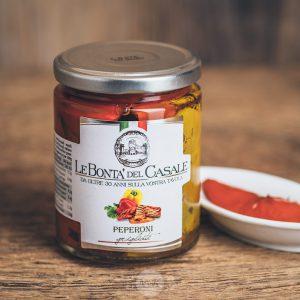 Glas gegrillte Paprika von Le Bonta´del Casale - Peperoni grigliate