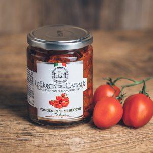 Glas halbgetrocknete Tomaten von Le Bonta´del Casale - Pomodori semi secchi