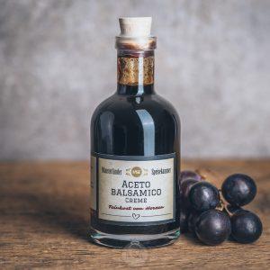 Flasche Aceto Balsamico Creme von der Münsterländer Speisekammer