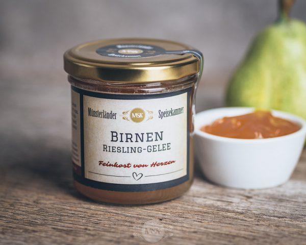 150 Gramm Glas Birnen-Riesling-Gelee von der Münsterländer Speisekammer