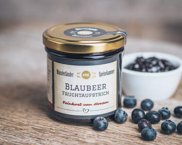 Glas Blaubeer Fruchtaufstrich von der Münsterländer Speisekammer