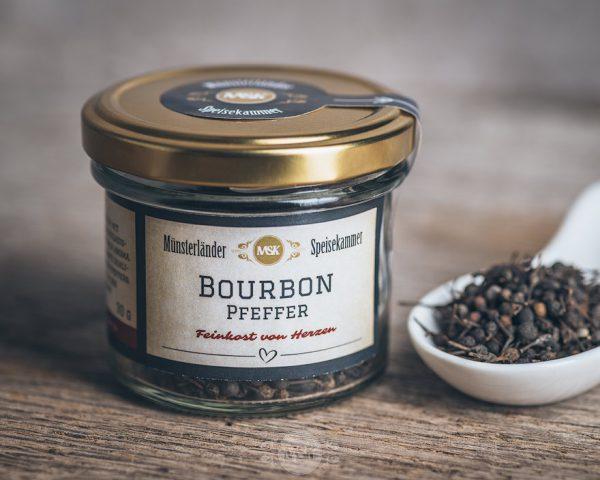 Glas Bourbon Pfeffer von der Münsterländer Speisekammer