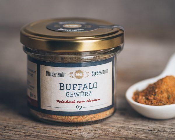50 Gramm Glas Buffalo Gewürz von der Münsterländer Speisekammer