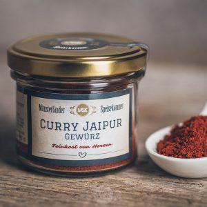 50 Gramm Glas Curry Jaipur Gewürz von der Münsterländer Speisekammer