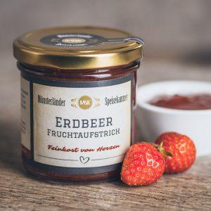 Glas Erdbeer Fruchtaufstrich von der Münsterländer Speisekammer