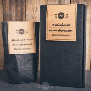 2 verschiedene Geschenkverpackungen der Münsterländer Speisekammer