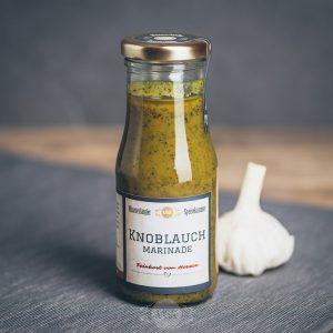 Flasche Knoblauch Marinade von der Münsterländer Speisekammer