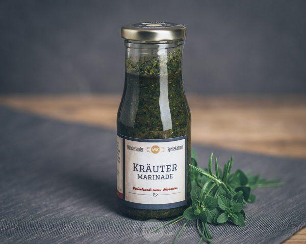 Flasche Kräuter Marinade von der Münsterländer Speisekammer