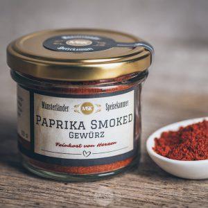 Glas Paprika smoked Gewürz von der Münsterländer Speisekammer