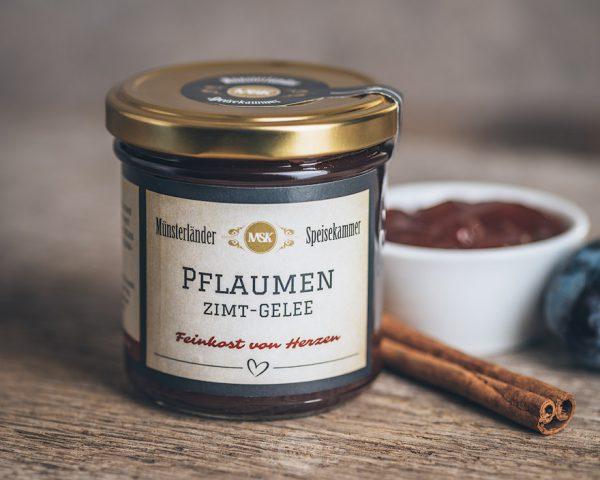 Glas Pflaumen-Zimt-Gelee von der Münsterländer Speisekammer