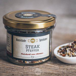 Glas Steakpfeffer von der Münsterländer Speisekammer