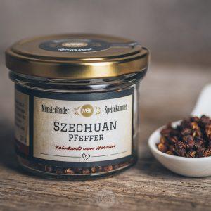 20 Gramm Glas Szechuan Pfeffer von der Münsterländer Speisekammer