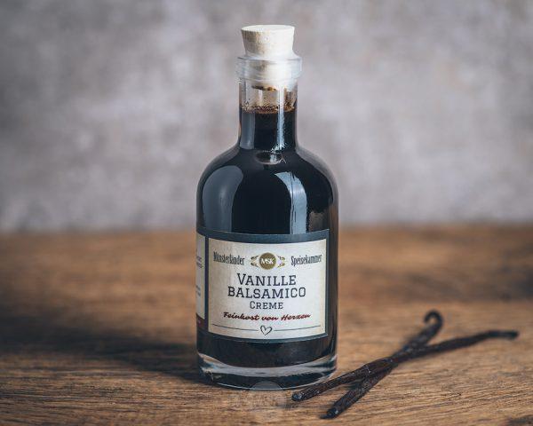Flasche Vanille Balsamico Creme von der Münsterländer Speisekammer
