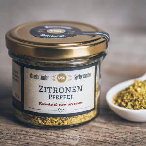 Glas Zitronenpfeffer von der Münsterländer Speisekammer