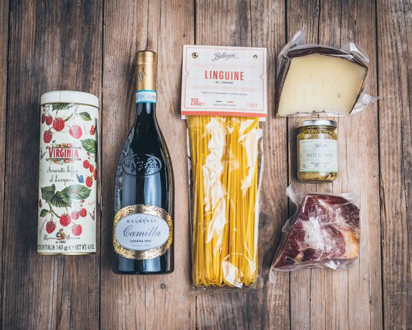 Präsentkorb Vino bianco von der Münsterländer Speisekammer