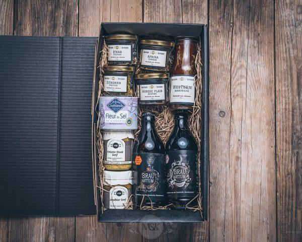 Präsentkorb kleine Grillbox von der Münsterländer Speisekammer