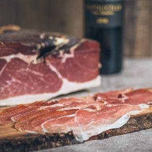 luftgetrockneter Parmaschinken San Daniele, zwölf Monate gereift