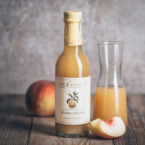 kleine Flasche Van Nahmen Weißer Pfirsich Nektar