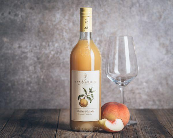 Flasche Van Nahmen Weißer Pfirsich Nektar