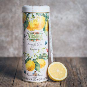 Metalldose mit Virginia Soft Amaretti di Limone