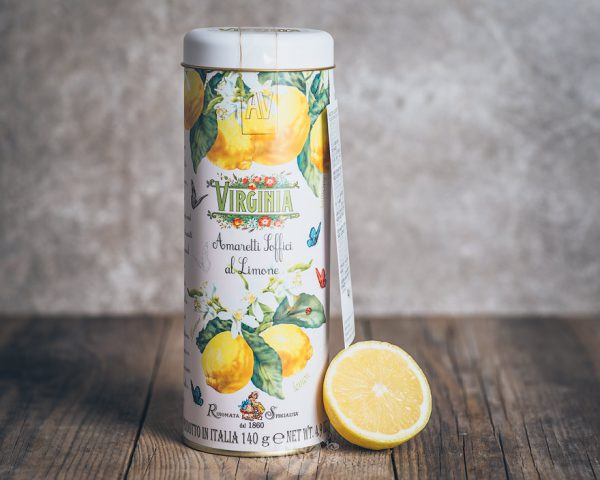 Metalldose mit Virginia Soft Amaretti di Limone