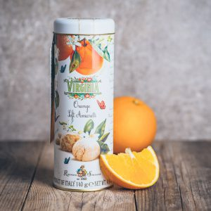 Metalldose mit Virginia Soft Amaretti Orange