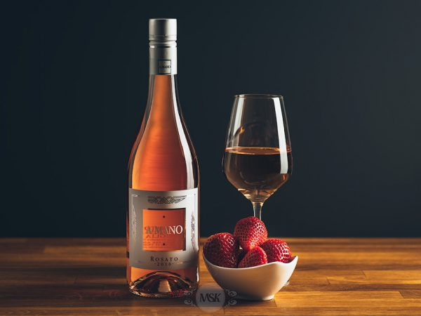 Flasche Roséwein A Mano Rosato
