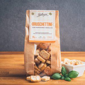 Packung Bellezini Bruschettine con pomodoro e basilico