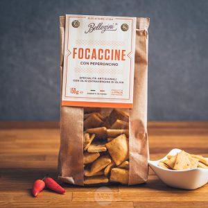 Packung Bellezini Focaccine con Peperoncino