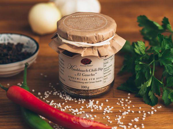 Glas Gourmet Berner Knoblauch Chili Dip El Gaucho