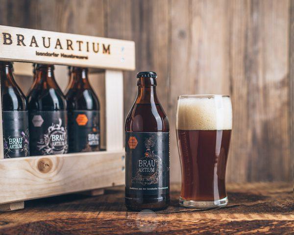 Flasche Brauartium Bier Obergäriges Dunkel