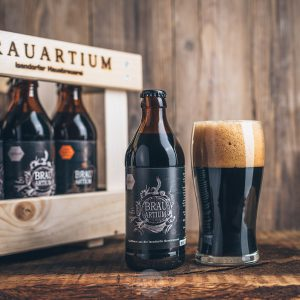 Flasche Brauartium Stout Bier