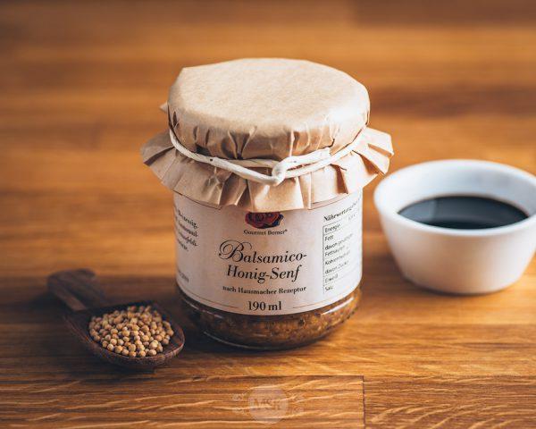 Glas Gourmet Berner Balsamico Honig Senf