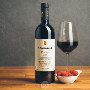 Flasche Rotwein Azagador Crianza